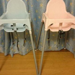 IKEAのハイチェア☆ピンク
