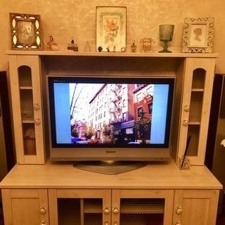 テレビ台 テレビボード フレンチ カントリー ホワイト ウッド