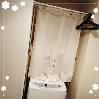 カーテン付洗濯機ラック