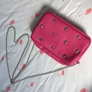 スタッズ👛ショルダーバッグ pink