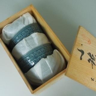 日本クラフト 群青色 小鉢5個セット(木箱入り・未使用)