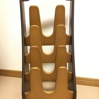 四段 木製スリッパスタンド