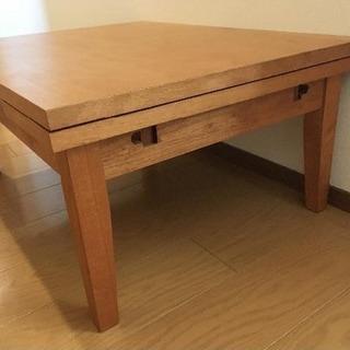【ウッドテーブル】2段階サイズ変更可能
