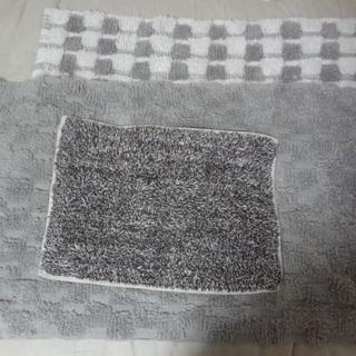 インド綿 ラグマット 2枚とミニマット 合計3枚セット