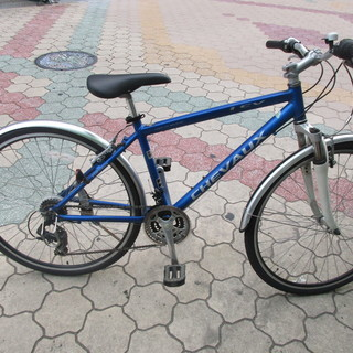 700cクロスバイク 21段変速 ブルー