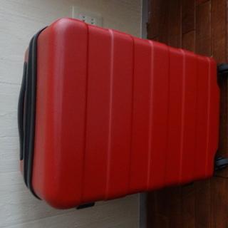 無印 スーツケース 赤 中古