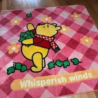 プーさん柄の、カーペット 三畳サイズ