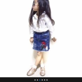 値下げ♫可愛いです♡新品未開封韓国子供服デニムスカート