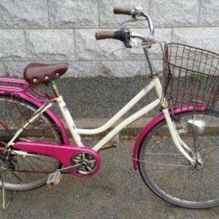 26インチ アサヒサイクル 6段変速 自転車
