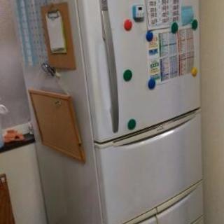 家族向け400リットル 5ドア冷凍冷蔵庫 2000年式 高さ177cm