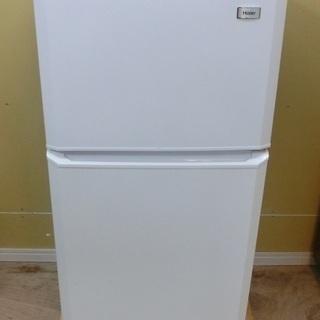 Haier 2ドア 冷凍冷蔵庫 JR-N106H 2015年製 中古品