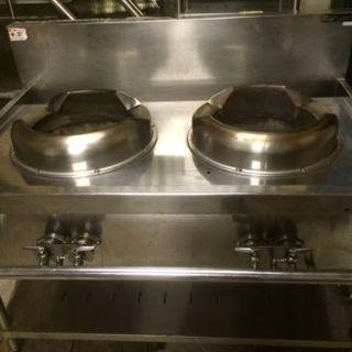 マルゼン 中華コンロ 2口 都市ガス 業務用 厨房用