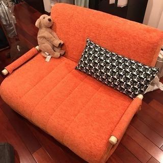 ソファベッド オレンジ