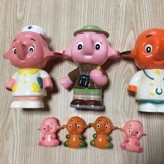 【中古】サトちゃんソフビ人形セット