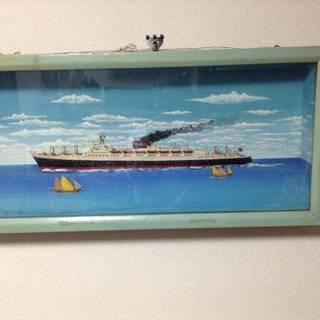 ★ジオラマ(レトロ昭和の豪華客船模型)迫力満点!