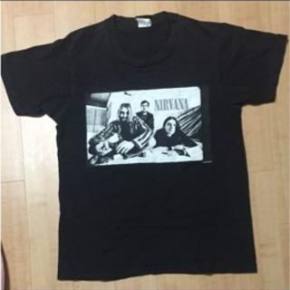 メーカー不明 NIRVANA ブラックTシャツ