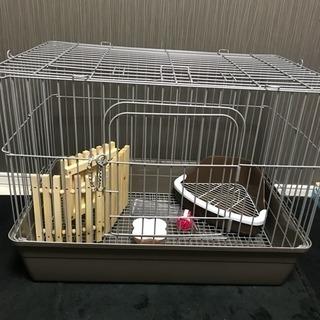 小動物飼育セット(うさぎケージ+5点)