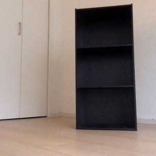 カラーボックス 黒 3段