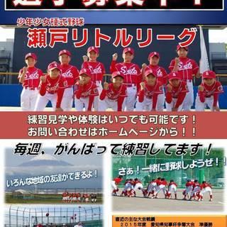 少年少女硬式野球メンバー募集 ☆瀬戸リトルリーグ☆