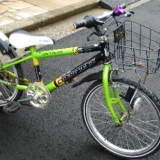 子ども自転車中古、グリーン