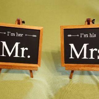 高砂装飾 Mr.  Mrs. 黒板  ブラックボード