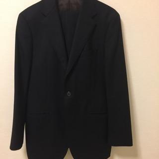 【Mr Junkoブランド】黒ストライプの冬用スーツ