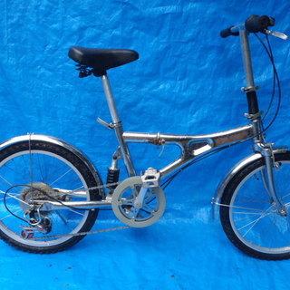 ステンレスの折りたたみ自転車 中古自転車 123