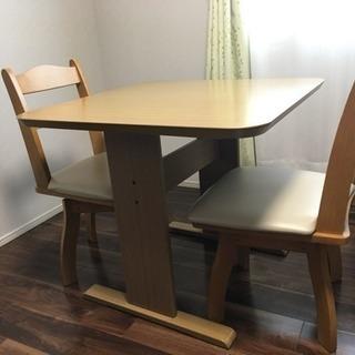 ニトリ2人用テーブル 椅子2脚セット