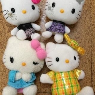 【美品】キティーちゃん ぬいぐるみ4体