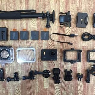 APEMAN A80 アクションカム 予備バッテリー、自撮り棒付