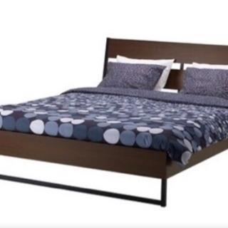IKEAダブルベッド フレーム&マットレス