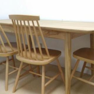[値下げ] 美品 ダイニングテーブル 椅子3つ