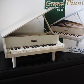 カワイ グランドピアノ ホワイト 木製