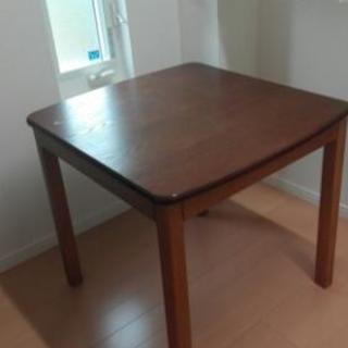 木目 テーブル 75×80×高さ70