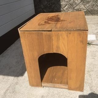 手作り犬小屋 あげます