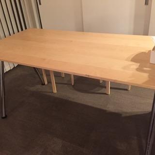IKEA ダイニングテーブル・ワークテーブル 高さ調整付き