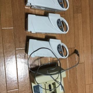電動自転車の充電器とバッテリー(×3)