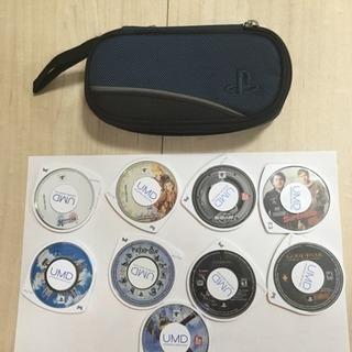 中古 PSPケース ソフト9本セット ジャンク本体付き