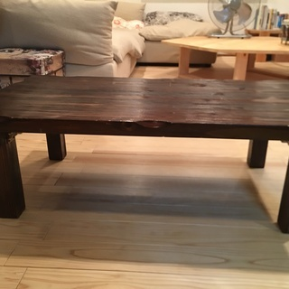 折りたたみ木製ローテーブル W105×D60×H30×天板厚み3.5