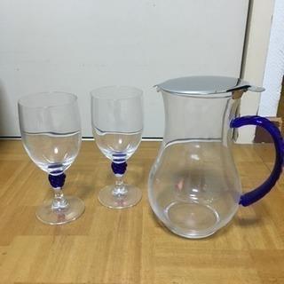 グラスとピッチャーのセット