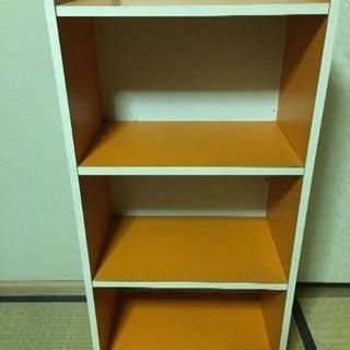 カラーボックス   オレンジ色