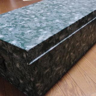 古いブリキの衣装箱・緑
