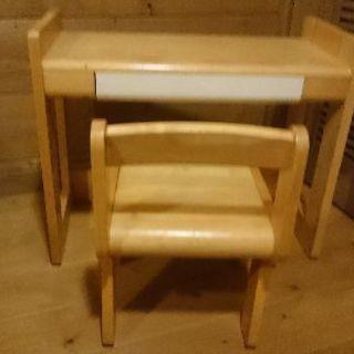 キッズ用 学習机セット 椅子付き