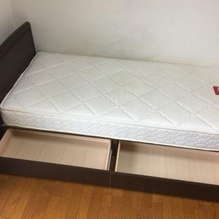 フランスベッド製 収納付シングルベッド