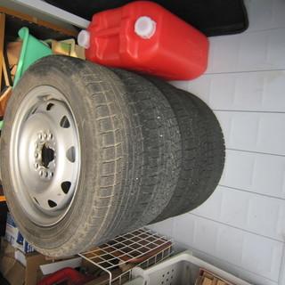 中古の冬用タイヤ(軽四用)を差しあげます