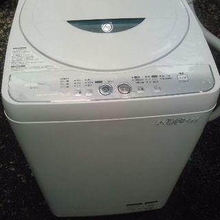 2012年式SHARP4.5キロ洗濯機です 送風乾燥付き 槽洗浄そ...
