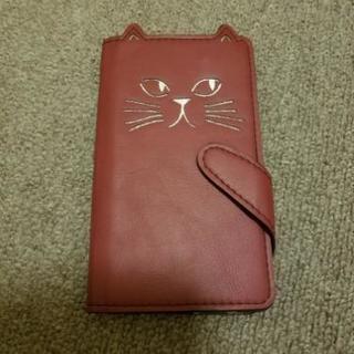 猫形 手帳型スマホケース Galaxy S7 edge(sc-02...