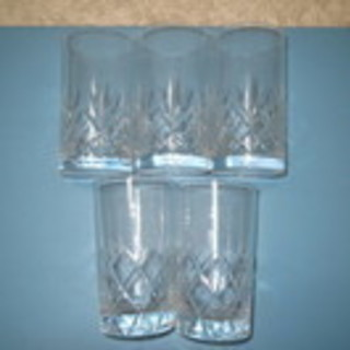 0円:水割りグラス:5客(中古)差し上げます
