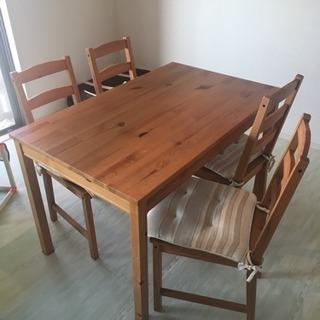IKEA ダイニングテーブルセット チェア4脚