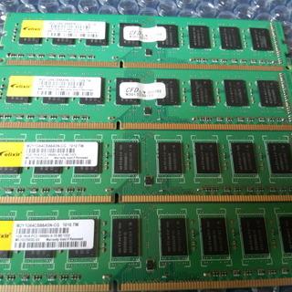 デスクトップ用メモリ DDR3 4GB(1GBx4)セット 中古 ...